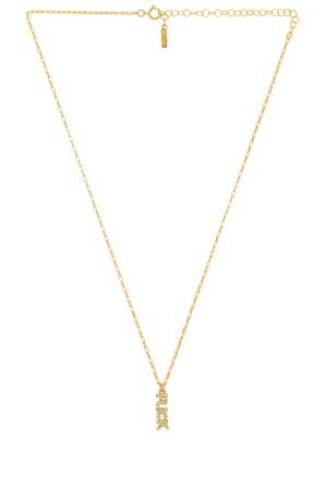 Natalie B Jewelry Fuck It Cz Necklace in Gold | REVOLVE