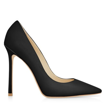 Jimmy Choo, Made-to-Order Romy 110 Closed Pumps In Black Leather 110mm High Heel