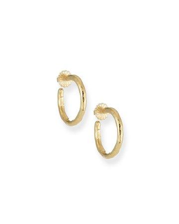 Ippolita Glamazon Yellow Gold Hoop Earrings | Neiman Marcus