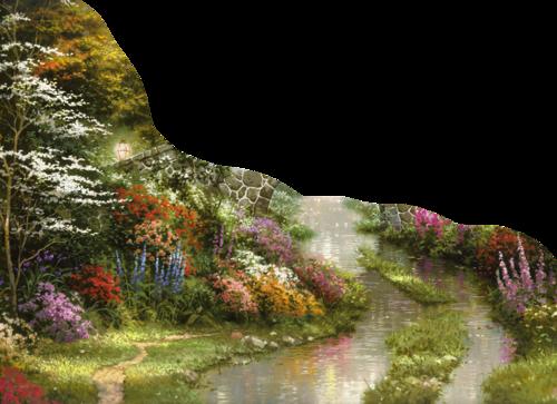 """Tubes paysages, printemps - été & jardins png - """"les tubes de Crinière"""""""