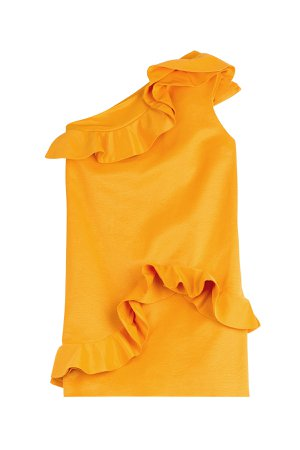 Asymmetric Dress with Ruffles Gr. IT 38