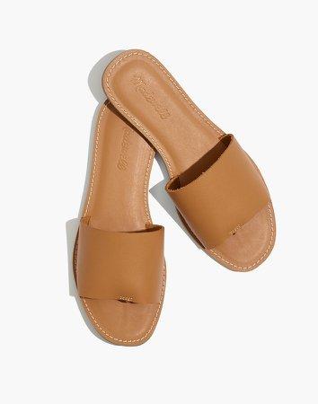 The Boardwalk Post Slide Sandal in Leather