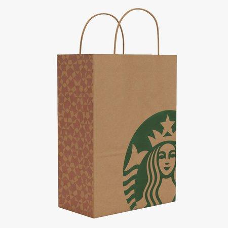 Starbucks paper bag 3D model - TurboSquid 1215296