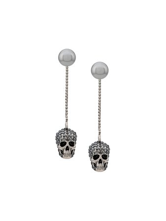 Alexander McQueen Skull Embellished Drop Earrings - Farfetch