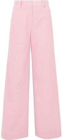 Bianca Cotton-corduroy Wide-leg Pants - Pink