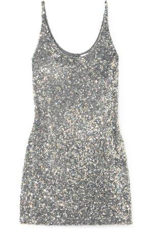 Ashish | Sequined georgette mini dress | NET-A-PORTER.COM