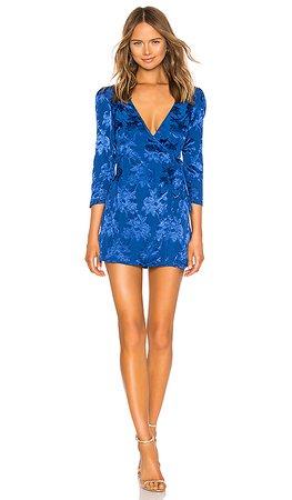 MAJORELLE Bedford Mini Dress in Cobalt Blue | REVOLVE