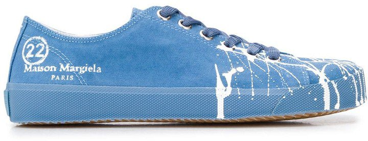 Tabi paint canvas sneakers
