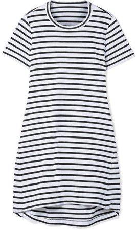Dixie Cutout Striped Cotton-jersey Mini Dress - White