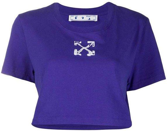 printed cropped T-shirt
