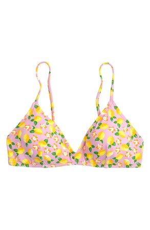 J.Crew Lemon Print French Bikini Top | Nordstrom