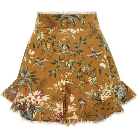 Zimmermann Tropical Floral Flutter Shorts ($370)