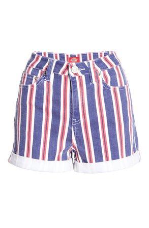 Dickies High Waist Stripe Shorts   Nordstrom