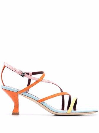 STAUD Colourblock Strappy Sandals - Farfetch