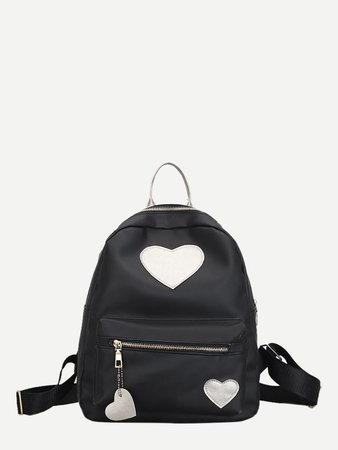 Heart Patch Decor Backpack