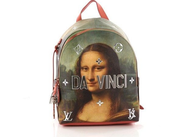 Louis Vuitton Backpack Palm Springs Jeff Koons Da Vinci Printed/With Accessories PM Pink Multicolor