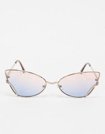 AJ Morgan cat eye sunglasses in rose gold | ASOS