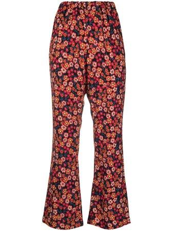 Marni floral-print Trousers - Farfetch