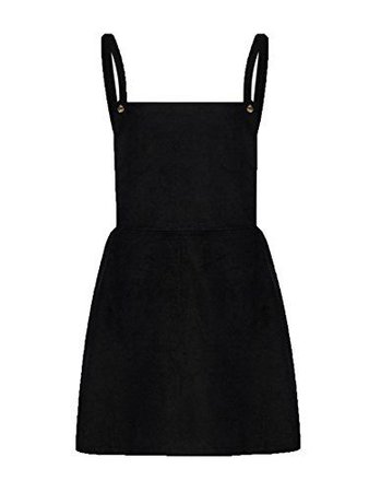 Choies Women's Black Square Neck Pinafore Suspender Overall Skirt