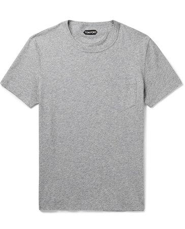 Tom Ford Jersey T—Shirt Gray Men's