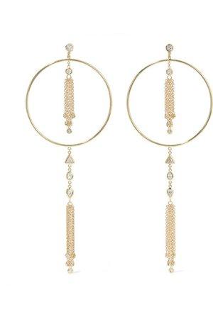 Jacquie Aiche   14-karat gold diamond earrings   NET-A-PORTER.COM