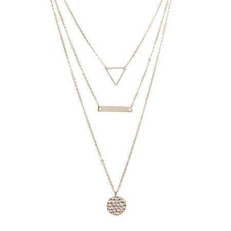 Amazon.com: S.J JEWELRY Fremttly Womens Handmade 14K Gold Filled/Rose Gold/Silver Freshwater Pearls Simple Delicate Full Moon Ball Pendant and Star Chokers Necklace for Mothers Day-CK-3Layered: Gateway