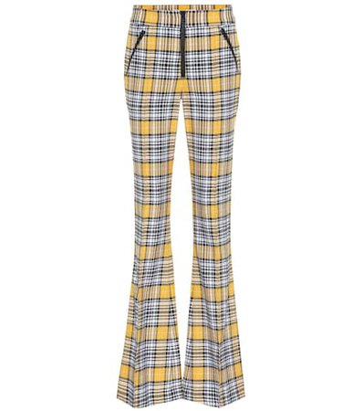 Fraser plaid flared pants