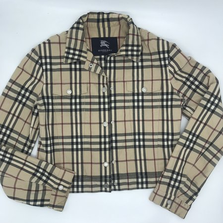 Burberry Nova Check Denim Jacket. Fits Size M A bit... - Depop