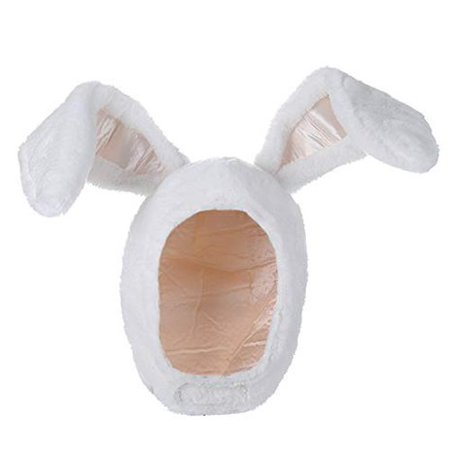 BOBILIKE Plush Fun Bunny Ears Hood Women Costume Hats Warm, Soft and Cozy, White - Walmart.com - Walmart.com