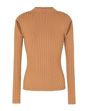 8 By Yoox Knit Cut-Out Detail Mock-Neck Sweater - Turtleneck - Women 8 By Yoox Turtlenecks online on YOOX United States - 14102784VF