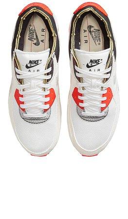 Nike Air Max III Premium Sneaker in White, White Black, & Bright Crimson | REVOLVE