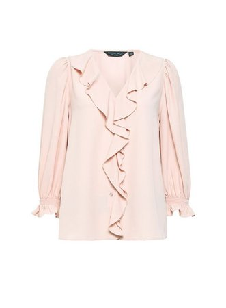 Blush Ruffle Shirt   Dorothy Perkins