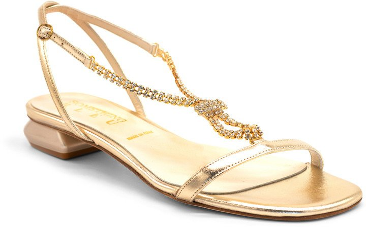 Yvette Crystal T-Strap Sandal