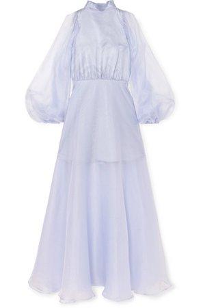 Beaufille | Europa silk-organza maxi dress | NET-A-PORTER.COM