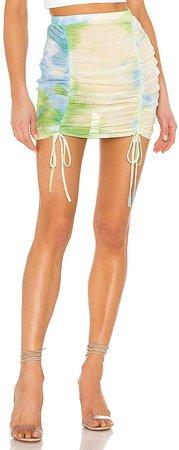 Jillian Ruched Beach Skirt