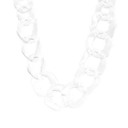 Clear Acrylic Chain Link Short Necklace