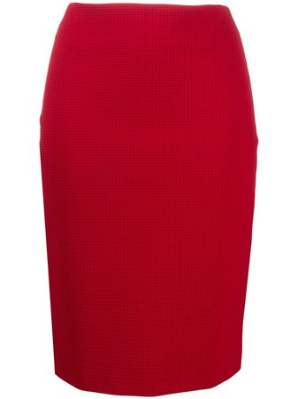 Boss Hugo Boss Check Print Pencil Skirt - Farfetch