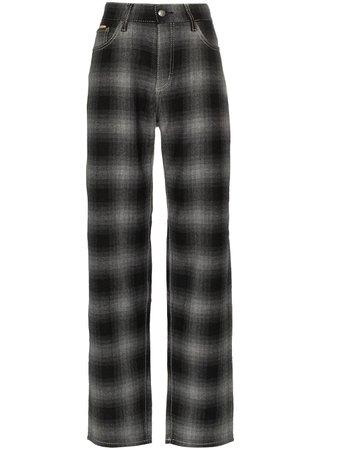 Eytys Benz Tartan high-waist Trousers - Farfetch
