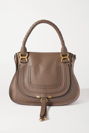 Green Marcie medium textured-leather tote | Chloé | NET-A-PORTER
