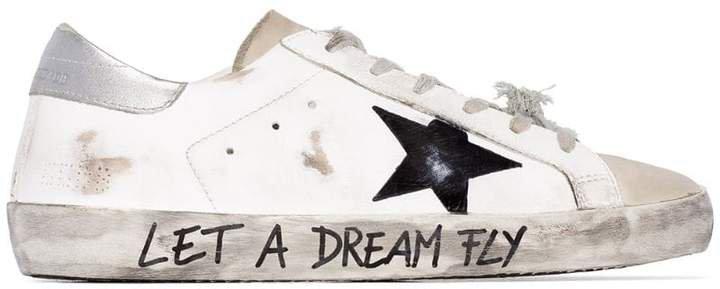Superstar distressed sneakers