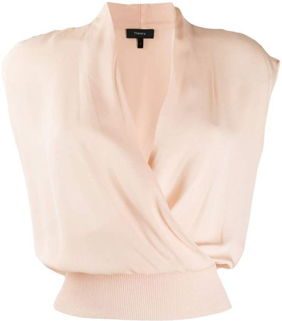 sleeveless draped top