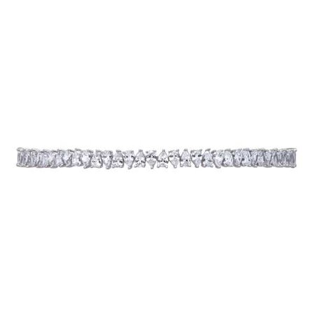 JAGGED EDGE PEAR TOGGLE CHOKER - RHODIUM - Fallon Jewelry