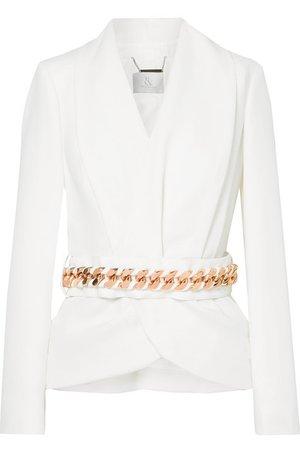 Ralph & Russo | Embellished silk-crepe wrap blazer | NET-A-PORTER.COM