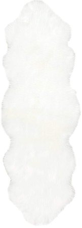 Amazon.com: nuLOOM HJFL02A Terrell Solid Faux Sheepskin Rug, 2' x 6', Ivory: Home & Kitchen