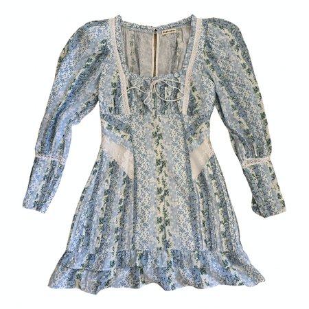 Mini dress For Love & Lemons Blue size 4 US in Viscose - 11945639