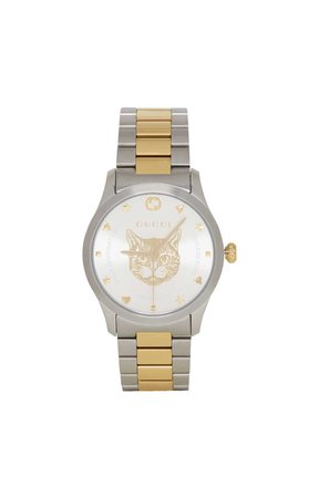 gucci iconic cat watch