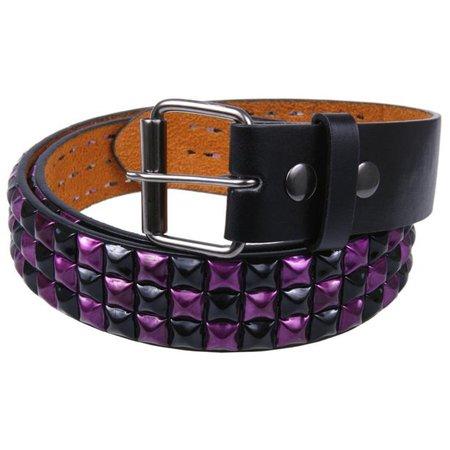 Old Glory - Purple Checker Studded Belt