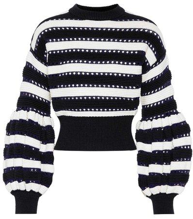 Cotton And Wool-Blend Sweater | Self-Portrait - mytheresa.com