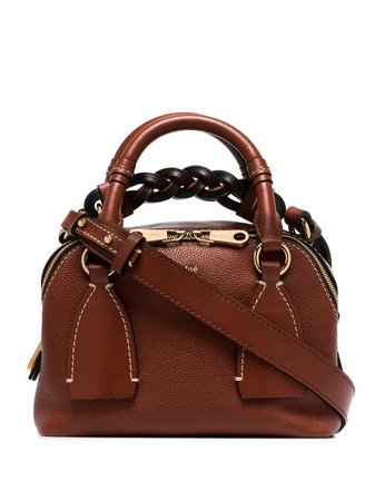 Shop brown Chloé small Daria shoulder bag with Express Delivery - Farfetch