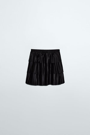 PLEATED MINI SKIRT | ZARA United States black